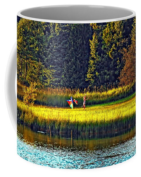 Kids Coffee Mug featuring the photograph Dreams Can Fly by Steve Harrington