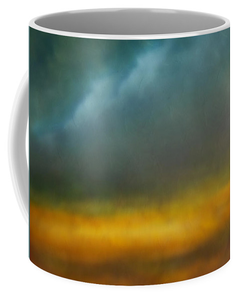 Abstract Coffee Mug featuring the painting Dreams Of The Lands You Showed Me by Georgiana Romanovna
