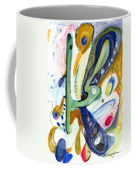 Abstract Art Coffee Mug featuring the painting Dreams by Stephen Lucas