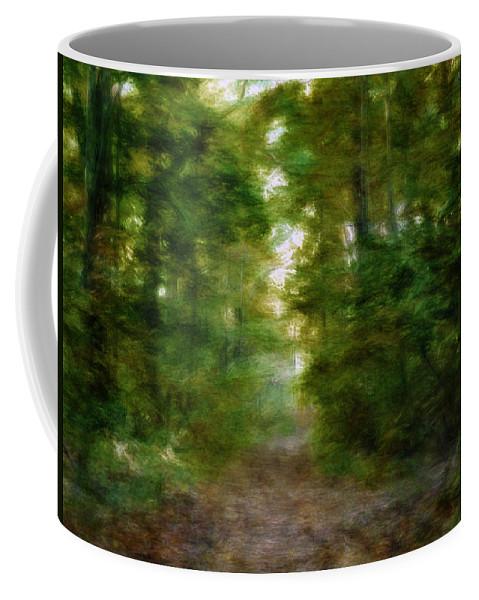 Fall Coffee Mug featuring the digital art Dreamy Forest by Tina Baxter