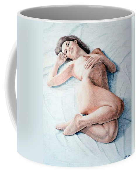Joe Ogle Coffee Mug featuring the drawing Dreamy by Joseph Ogle