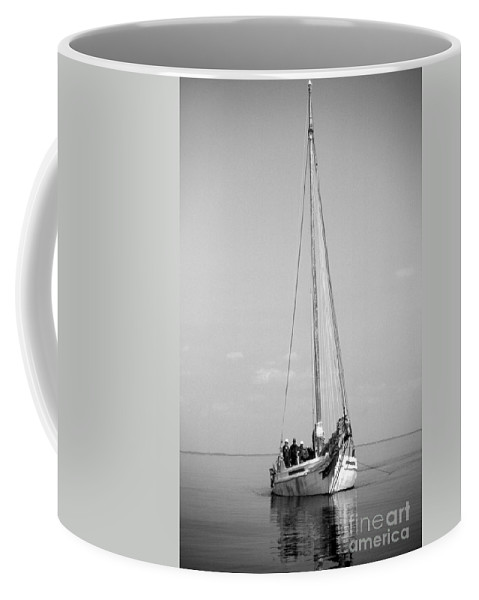 Maritime Coffee Mug featuring the photograph Dredger by Skip Willits