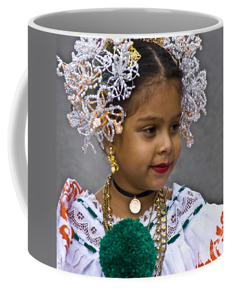 Girl Coffee Mug featuring the photograph Dressed For Festivity by Heiko Koehrer-Wagner