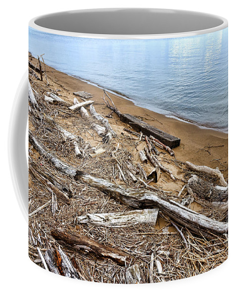 Driftwood Coffee Mug featuring the photograph Drifted Woods by Olivier Le Queinec