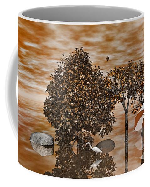 Trees Coffee Mug featuring the digital art Drifters by Betsy Knapp