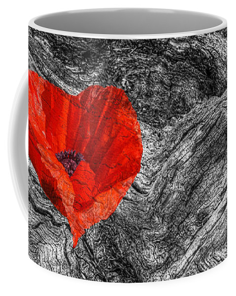 Red Heart Coffee Mug featuring the photograph Drifting - Love Merging by Gill Billington