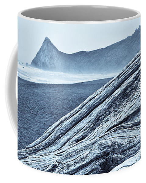 Driftwood Coffee Mug featuring the photograph Driftwood At Klamath River by Jeff Black