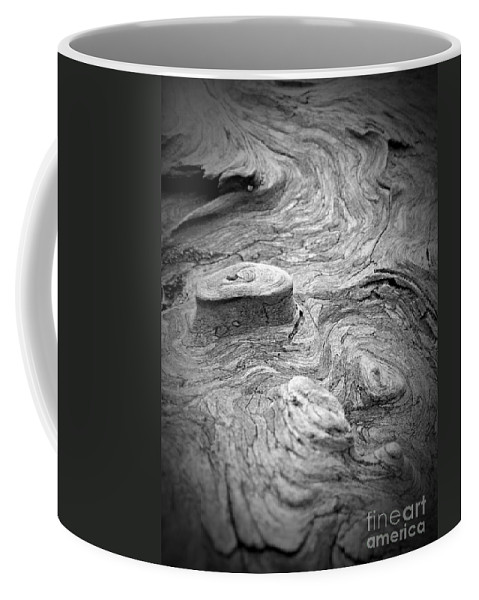 Driftwood Butte Bw 1 Coffee Mug featuring the photograph Driftwood Butte Bw 1 by Chalet Roome-Rigdon