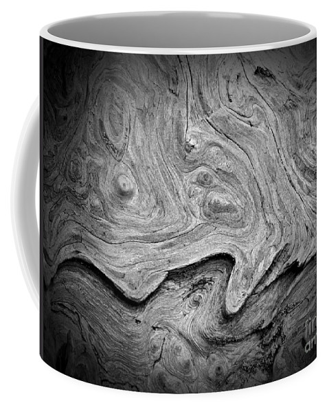 Driftwood Butte Bw 2 Coffee Mug featuring the photograph Driftwood Butte Bw 2 by Chalet Roome-Rigdon