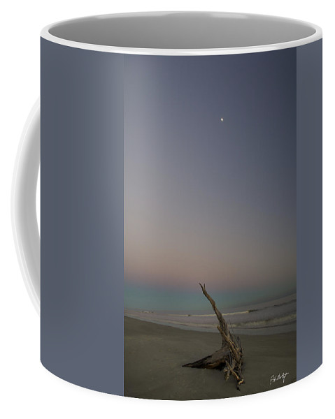 Beach Coffee Mug featuring the photograph Driftwood Moon by Phill Doherty