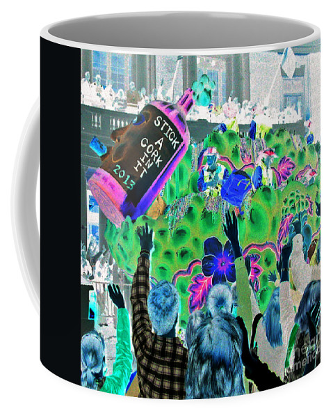 Abstract Coffee Mug featuring the photograph Drinkin' Wine by Marian Bell