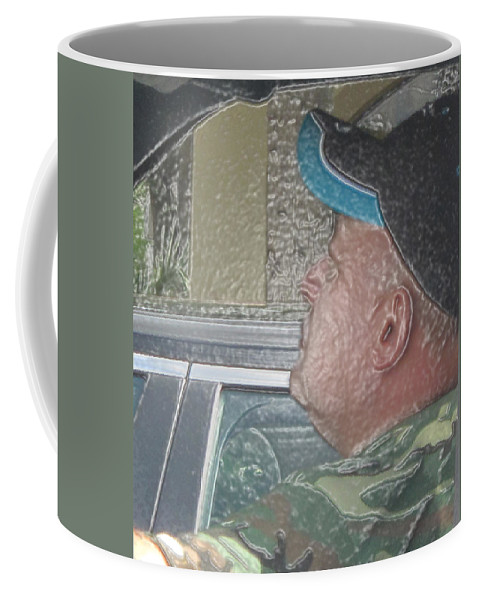 Abstract Coffee Mug featuring the photograph Driving Man by Dart and Suze Humeston