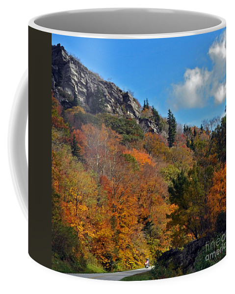 Autumn Scenes Coffee Mug featuring the photograph Driving Through Autumn's Beauty  by Lydia Holly