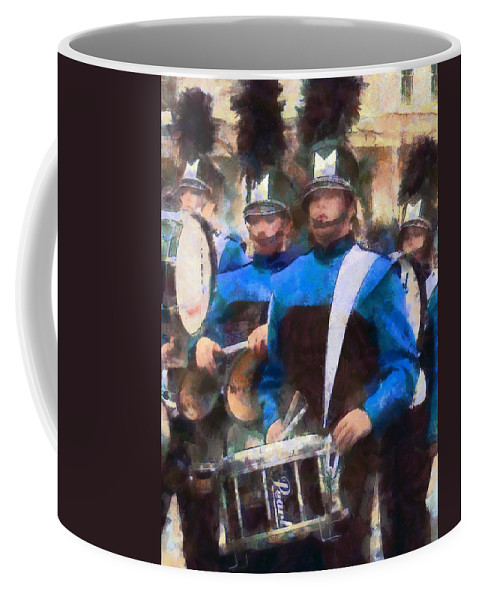 Band Coffee Mug featuring the photograph Drummers by Susan Savad