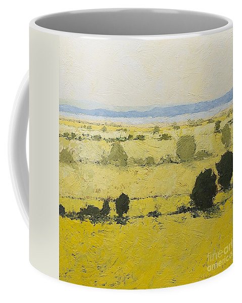 Landscape Coffee Mug featuring the painting Dry Grass by Allan P Friedlander