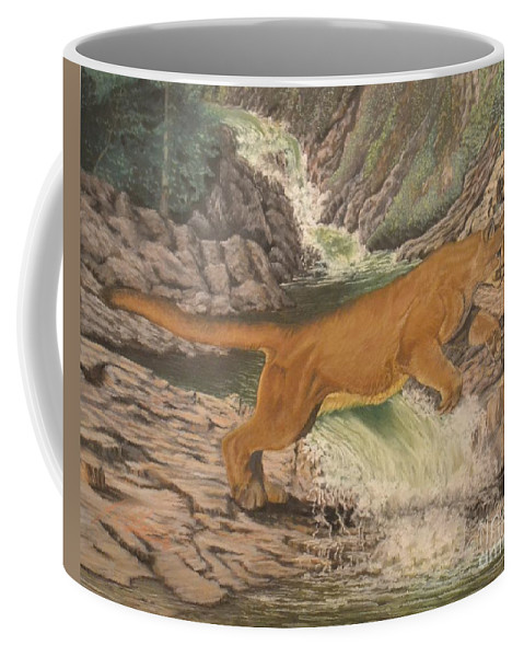 Nature Coffee Mug featuring the pastel Dry Land by John Huntsman