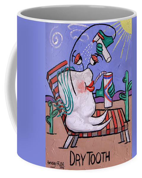 Dry Tooth Coffee Mug featuring the painting Dry Tooth Dental Art By Anthony Falbo by Anthony Falbo