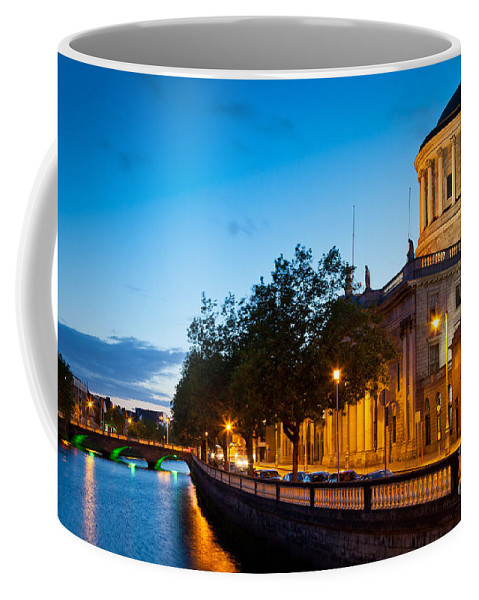 Dublin Coffee Mug featuring the photograph Dublin Four Courts by Inge Johnsson
