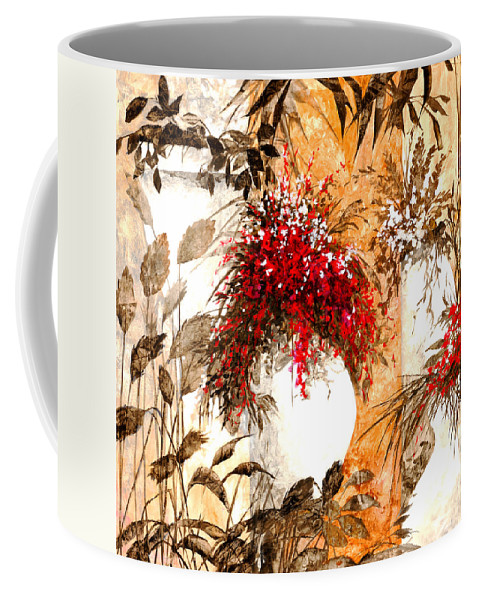 White Coffee Mug featuring the painting Due Bianca by Guido Borelli