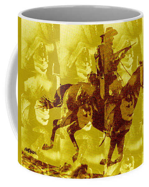 Clint Eastwood Coffee Mug featuring the digital art Duel In The Saddle 1 by Seth Weaver
