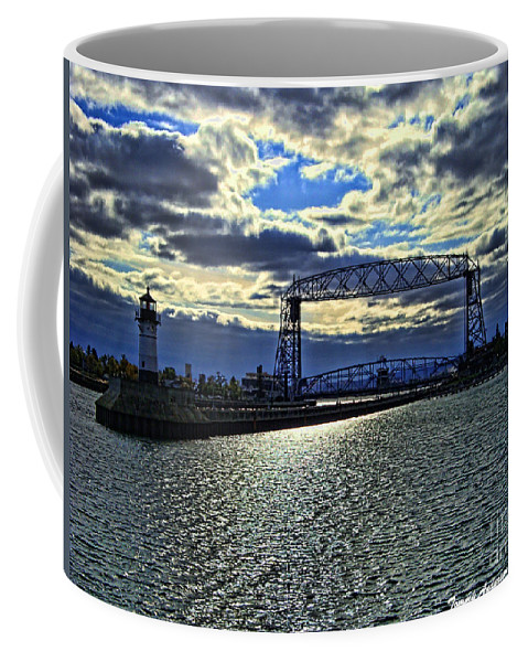 Duluth Coffee Mug featuring the photograph Duluth Lift Bridge by Tommy Anderson