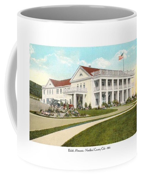 Northland Country Club Coffee Mug featuring the digital art Duluth Minnesota - Northland Country Club - 1915 by John Madison