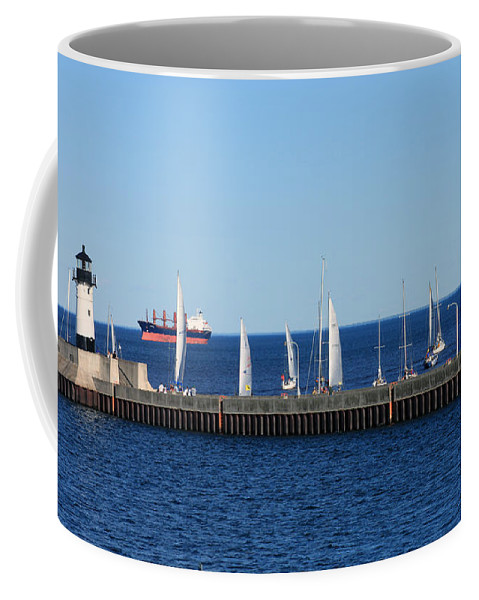 Duluth Coffee Mug featuring the photograph Duluth Mn Harbor by Lori Tordsen
