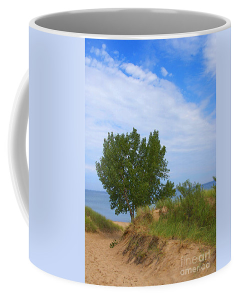 Dune Coffee Mug featuring the photograph Dune - Indiana Lakeshore by Ann Horn
