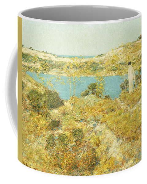 American Art; American Impressionism; American Impressionist; Beach Coffee Mug featuring the painting Dune Pool by Childe Hassam