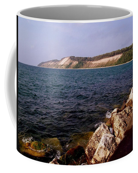 Michigan Coffee Mug featuring the photograph Dunes North Of Frankfort Michigan by Michelle Calkins