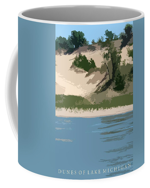 Dunes Coffee Mug featuring the photograph Dunes Of Lake Michigan by Michelle Calkins