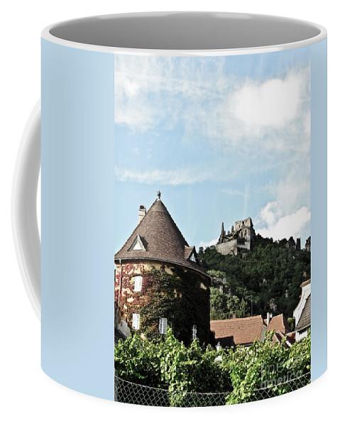 Travel Coffee Mug featuring the photograph Durnstein Castle by Elvis Vaughn