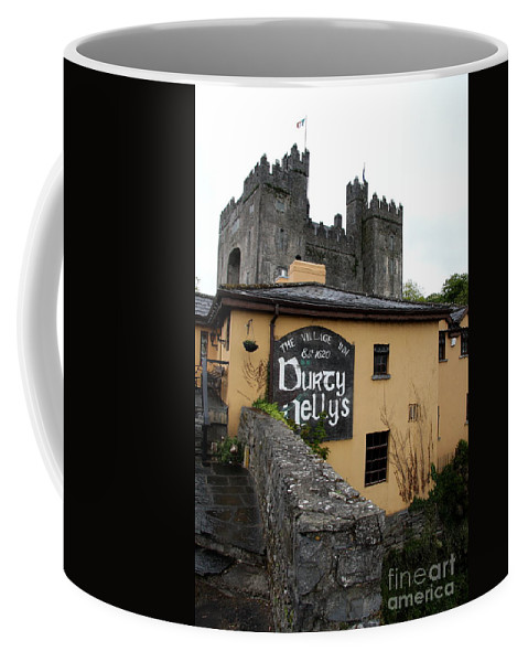 Pub Coffee Mug featuring the photograph Durty Nellys And Bunraty Castle by Christiane Schulze Art And Photography
