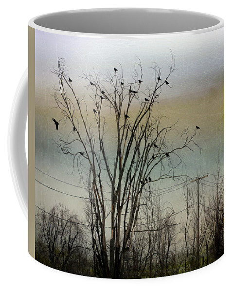 Tree Coffee Mug featuring the photograph Dusk Sky by Gothicrow Images