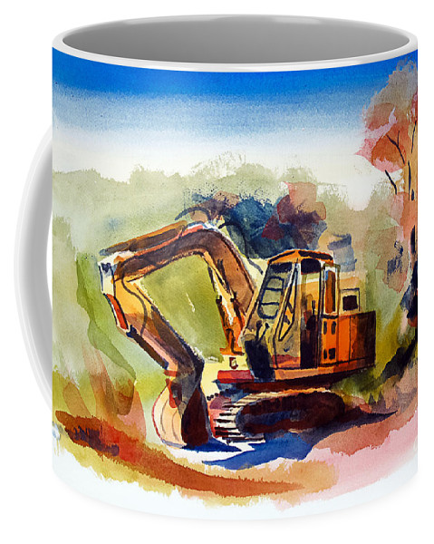 Dozer Afternoon 2 Coffee Mug featuring the painting Dozer Afternoon 2 by Kip DeVore
