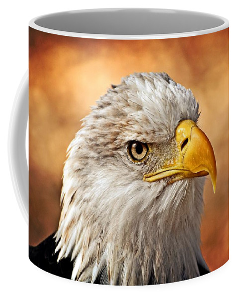Eagle Coffee Mug featuring the photograph Eagle At Sunset by Marty Koch