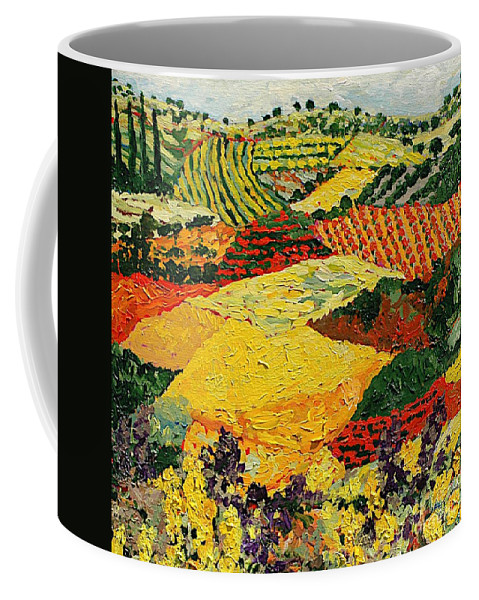 Landscape Coffee Mug featuring the painting Early Clouds by Allan P Friedlander