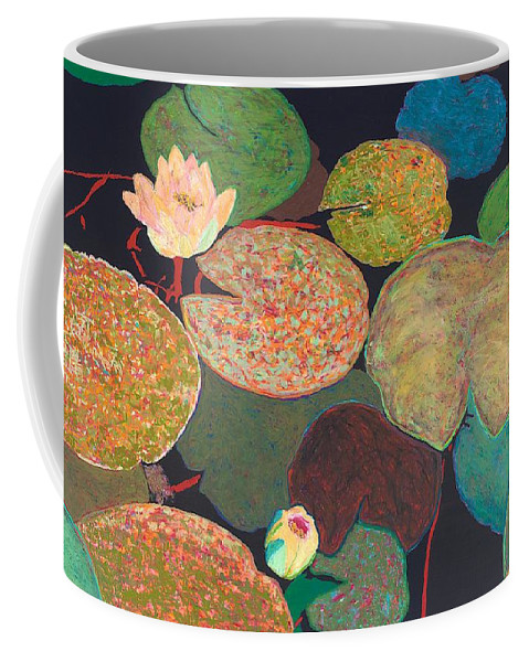 Landscape Coffee Mug featuring the painting Early Mist by Allan P Friedlander