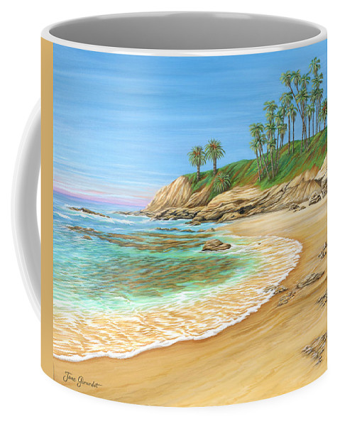 Beach Coffee Mug featuring the painting Early Morning Laguna by Jane Girardot