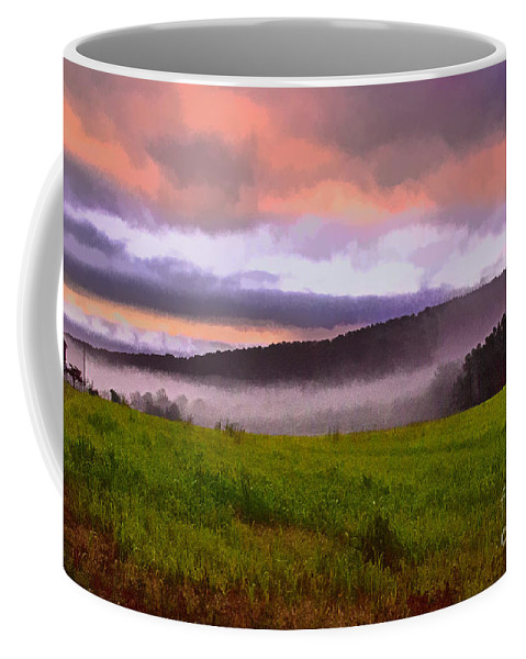 Mist Coffee Mug featuring the photograph Early Morning Mist by Tom Gari Gallery-Three-Photography