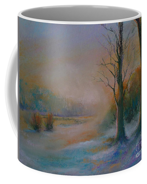 Landscape Coffee Mug featuring the painting Early Snow by Pusita Gibbs