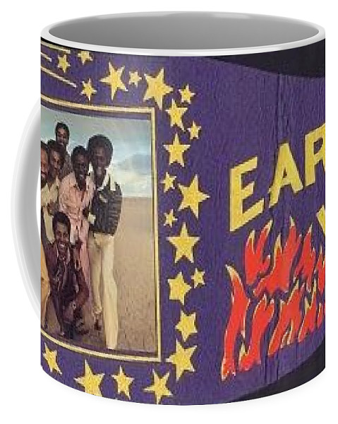 Earth Coffee Mug featuring the photograph Earth Wind Fire Pennant 1970s by Jussta Jussta