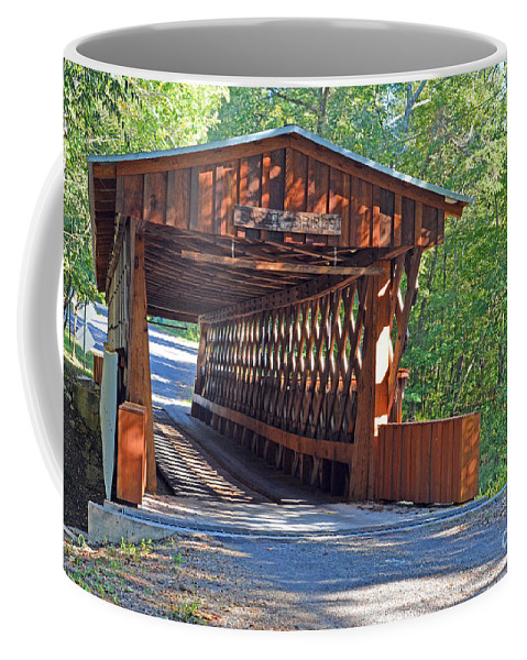 Bridges Photographs Coffee Mug featuring the photograph Easley Covered Bridge by Barb Dalton