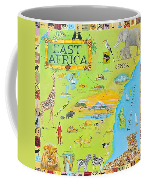 East Africa Coffee Mug featuring the painting East Africa by Virginia Ann Hemingson