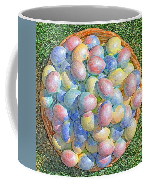 Original Coffee Mug featuring the painting Easter Eggs For Grandchildren 2013 by Carl Deaville