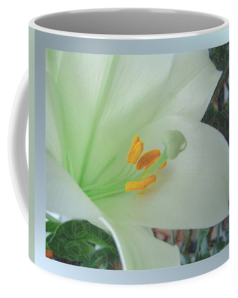 Easter Coffee Mug featuring the mixed media Easter Lily by Kae Cheatham