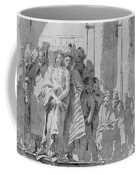 Tiepolo Coffee Mug featuring the drawing Ecce Homo by Tiepolo