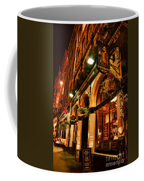 Scotland Coffee Mug featuring the photograph Edinburgh Pub At Night by Charlene Gauld