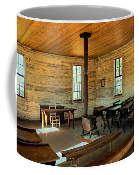 School Coffee Mug featuring the photograph Education Of The Past by Charles Beeler