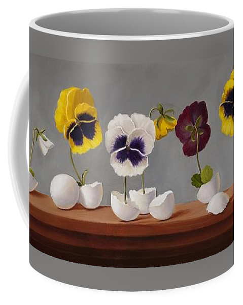 Eggs Coffee Mug featuring the painting Egg Plants by Paula Peacock
